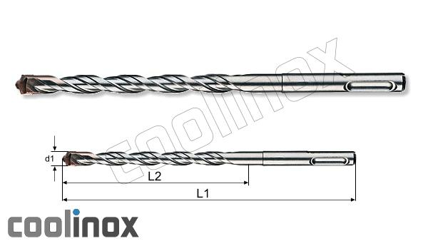 6,0mm x L 310mm / SDS-PLUS HM-tip