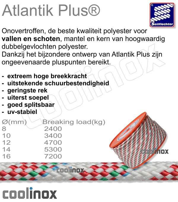 Atlantik plus diam. 8mm / per meter